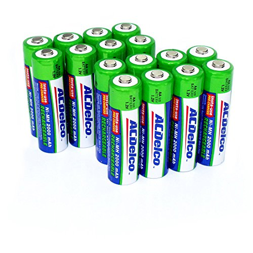 ACDelco AA Insta-Use Rechargeable Batteries, Precharged, 16 Count