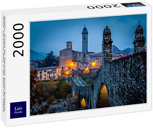 Lais Puzzle Bobbio, Valle del Trebbia, Piacenza, Emilia Romagna, Italia. Il Piccolo Paese Vicino a Trebbia 2000 Pezzi