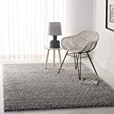 Safavieh California Premium Shag Collection SG151-7575 Area Rug, 8' 6' x 12', Silver