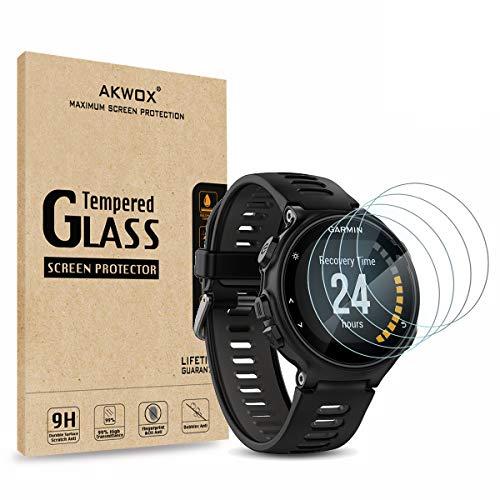 AKWOX [4 Unidades] Protector de Pantalla para Garmin Forerunner...