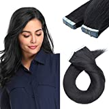 SEGO 20 Inch Tape In Hair Extensions 40pcs 100g /Jet Black/ Ombre 100%...