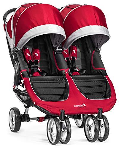 Baby Jogger City Mini Double Passeggino, Rosso(Crimson/Gray)