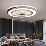 HYKISS LED Ventilateur De Plafond Dimmable Invisible Plafonnier Ventilateur...