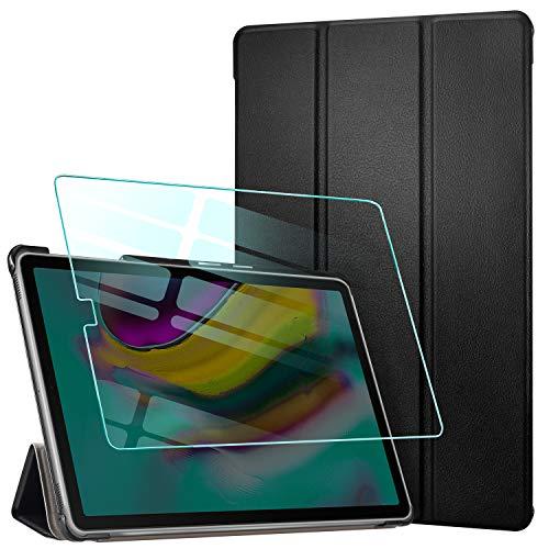 AROYI Custodia Cover per Samsung Galaxy Tab S5e 10.5 + Vetro temperato, Ultra Sottile Leggero...