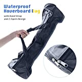 TOMOLOO Portable Hoverboard Bag, Waterproof Hoverboards Carrying Bag, Backpack for Self Balancing Smart Board with Storage Mesh Pocketfit Conventional 6.5 Inches of Wheel Size(Except Off-Road Tires)