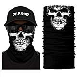 MIRKOO 3D Premium Breathable Seamless Tube Skull Half Face Mask, Windproof Dust-proof UV Protection Bicycle Bike Motorcycle Face Mask for Cycling Hiking Camping Climbing Fishing Motorcycling (SFM-520)