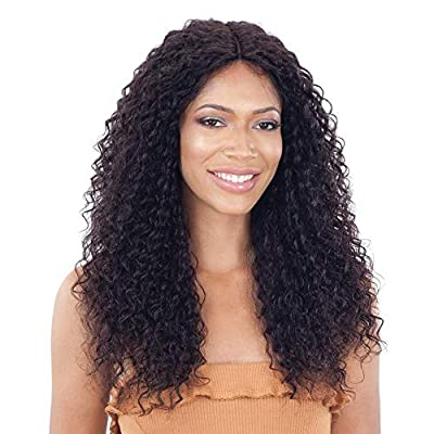 "COLOR SHOWN ON MODEL: NATURAL Brazilian Human Hair 5"" Deep Center Lace Part Dye, Bleach, & Perm"