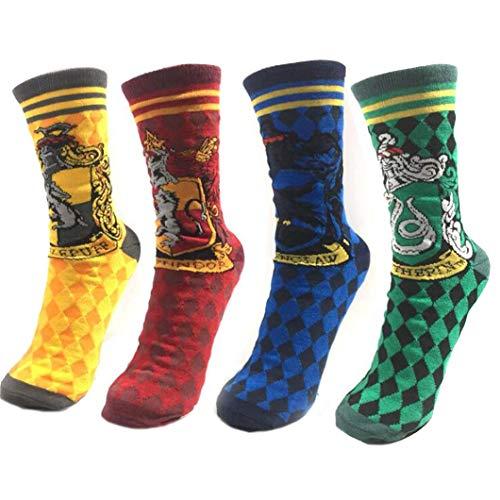 4 paia di calzini per adulti donne e uomini calzino harri cosplay accessori Halloween magica...