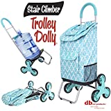 dbest products Stair Climber Trolley Dolly, Morrocan Tile Shopping Grocery Foldable Cart Condo Apartment