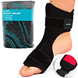 AZMED 2020 Plantar Fasciitis Night Splint [Lightweight & Breathable], Adjustable Foot Drop Brace,...
