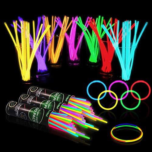 300 Glow Sticks Bulk Party Supplies - Glow in The Dark Fun Party...