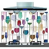 YIBOKANG Color Creativo Copa De Vino Restaurante Cocina Obstetricia Maleta De Pared 60 * 90 Cm Alta Temperatura Afilar Azulejo Decoración De La Decoración De La Pared