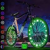 Activ Life Clignotant Vélo (2 Pneus, Vert) Lumières Vélo Fun pour Le BMX, Les Vélos de Route, Couché, Pliant, Tandem, Vélo Enfants - Lumières de Roues