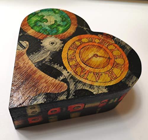 Steam punk heart shaped Jewelry box