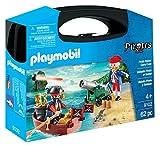 Playmobil- Maletín Grande Pirata y Soldado Figuras de Juguete, Multicolor, única (9102)