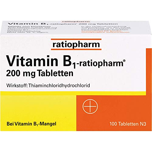 Vitamin B1-ratiopharm 200 mg Tabletten, 100 St. Tabletten