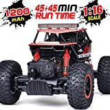 RC Car, NQD Remote Control Monster Truck, 2.4Ghz 4WD Off Road Rock Crawler Vehicle, 1:16 All Terrain Rechargeable Electric Toy for Boys & Girls Gifts