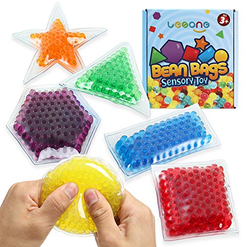 Sensory Water Beads Toy for Kids 6 Pack, Shapes Learning Toy...