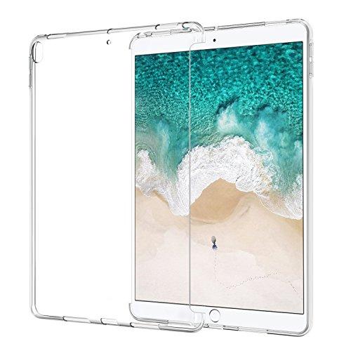 iPad Pro 10.5 ケース - ATiC iPad Pro 10.5 2017用TPU製 ソフト保護ケース カバー iPad Pro公式キーボードコンパチ Crystal Clear