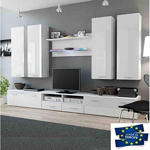 AZURA HOME DESIGN - Mobile TV Dream 300 cm, Colore: Bianco