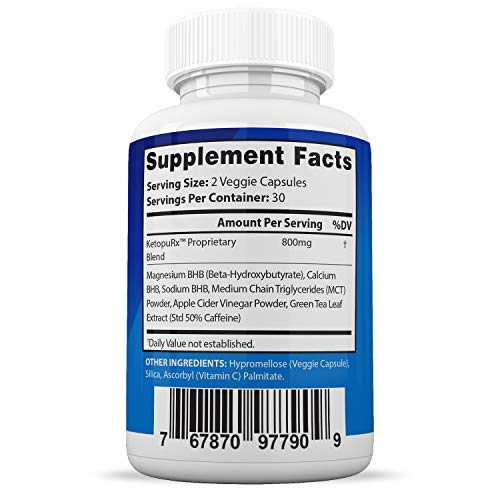 Advanced Keto Pure BHB Boost Pills Enhanced Ketogenic Supplement Real Exogenous Ketones Ketosis for Men Women 60 Capsules 2 Bottles 2