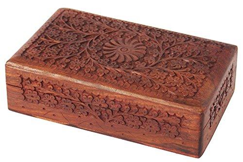 Regalo Día de la Madre Gradevoli intagliato mano di legno gingillo decorativi Jewelle...