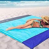 STCT Street Cat 82'x79' Large Beach Blanket, Soft Lightweight Pocket Blanket, Waterproof Outdoor Picnic Mat for Beach, Camping, Hiking, Music Festival