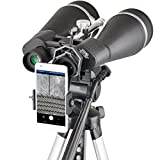 Gosky Titan 20x80 Astronomy Binoculars, Giant Binocular with Braced-in Tripod Adapter,Carrying Case,Protective Shield,and Digiscoping Phone Adapter -for Bird Watching Sightseeing Shooting Star Gazing
