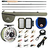 """M MAXIMUMCATCH Maxcatch Extreme Fly Fishing Combo Kit 3/5/6/8 Weight, Starter Fly Rod and Reel Outfit, with a Protective Travel Case (3wt 8'4"""" 4pc Rod,3/4 Reel)"""
