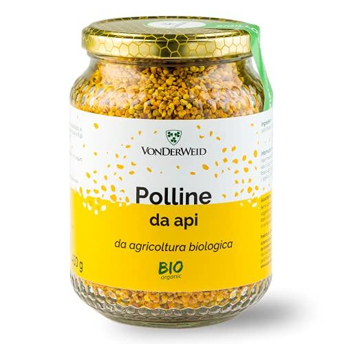 Vonderweid - Polline d'Api   Polline Biologico Italiano   Alimento Completo ricco di Proteine, Vitamine, Minerali e Aminoacidi Essenziali per le Difese Immunitarie   Integratore Vegetale   450 gr