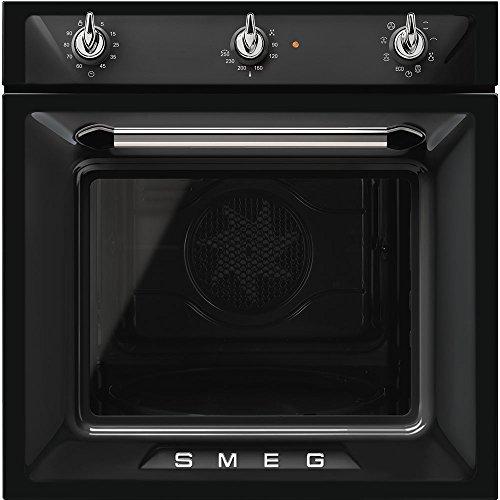 Smeg SF6905N1 - Forno termoventilato, 60 cm, nero, Estetica Victoria. Classe energetica A