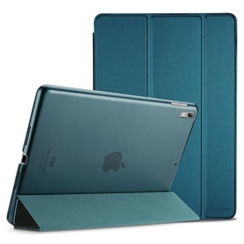 Procase iPad Air (3rd Gen) 10.5' 2019 / iPad Pro 10.5' 2017 Case, Ultra Slim Lightweight Stand Smart Case Shell with Translucent Frosted Back Cover for Apple iPad Air (3rd Gen) 10.5' 2019 Teal