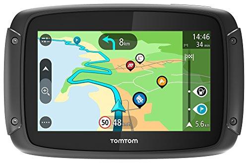 TomTom Rider 500 Motorrad-Navi (4,3 Zoll, mit kurvigen und bergigen Strecken speziell für Motorräder, Updates über Wi-Fi, Lebenslang TomTom Traffic und Radarkameras, 49 Länder Europas)