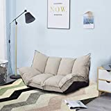 JERRY & MAGGIE - Lazy Sofa Futons Sets Adjustable Sofa TV Floor Couch Folding Sofa Bed Entertainment | Beige