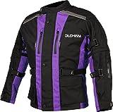 Duchinni DJKJAGO67SM Unisex-Child Motorcycle Jacket (Purple, Small)
