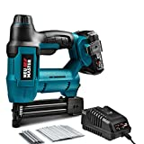 Cordless Brad Nailer, NEU MASTER NTC0023 Rechargeable Nail Gun/Staple Gun for Upholstery, Carpentry and Woodworking Projects, Including 20V Max. 2.0Ah Li-ion Battery and Charger