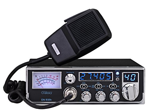 Galaxy DX-939F Mobile AM CB Radio with Frequency Counter & Backlit Faceplate in a Mid Size Chassis - 7.25' Wide