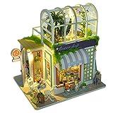 AIflyMi DIY casa de muñecas de Madera DIY Modelo de casa de Flores en Miniatura Modelo Hecho a Mano Juguetes de Montaje para niña