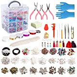 Jewelry Making Kit, 1960 pcs Jewelry Making Supplies Includes Jewelry Beads, Instructions, Findings,...