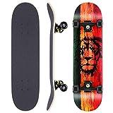 WeSkate Planche de Skateboard complète 79x20cm Planche de Bois avec roulements à Billes ABEC-11 31 Pouces 7 Plis en érable Canadien et Roues 85A pour...