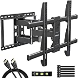 MOUNTUP Full Motion TV Wall Mount Bracket for 42-70 Inch Flat Screen/Curved TVs, Wall Mount TV...