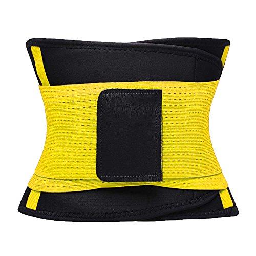 VENUZOR Waist Trainer Belt for Women - Waist Cincher Trimmer - Slimming Body Shaper Belt - Sport Girdle Belt (UP Graded)(Yellow,X-Large 6