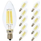 10 Pièce E14 Ampoule Edison Dimmable Lampe à Filament LED 4W C35 Ampoule...