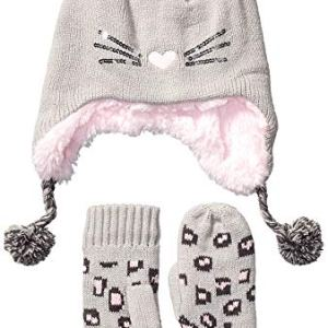 Amazon Brand – Spotted Zebra Girls Hat Scarf Mittens Gloves Cold Weather Accessories Sets