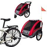 TIGGO World Convertible Jogger Remorque à Vélo 2 en 1, pour Enfants BT603-D01...