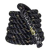 Display4top Corde de Bataille 9m/12m/15m Corde Entrainement Corde de Fitness Bataille Ondulatoire pour la Musculation Formation (38mm * 9m)