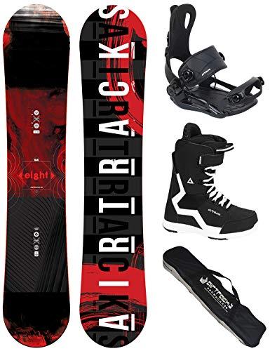 Airtracks Snowboard Set - Wide Board Eight 160 - Softbindung Master - Softboots Savage Black 45 - SB Bag