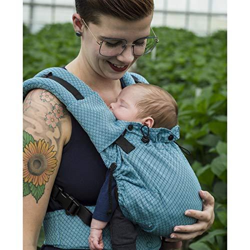 NEKO SWITCH Baby - Marsupio Neonato Portabebè Regolabile Ergonomico Neonato Zaino Porta Bimbo e Bebè (Blue Diamond)