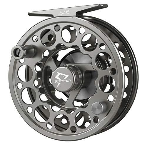 Piscifun Sword - Mulinello da pesca a mosca, corpo in lega di alluminio lavorato a CNC, peso 3/4, 5/6, 7/8 o 9/10, nero, canna di fucile