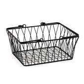 Spectrum diversified twist storage handles, modern market style wire basket for farm decoration to organize bathroom, pantry and craft room, medium, black